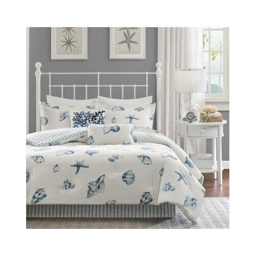 Bedroom Comforter Set 4Pc Bed In A Bag Beach House Sea ...