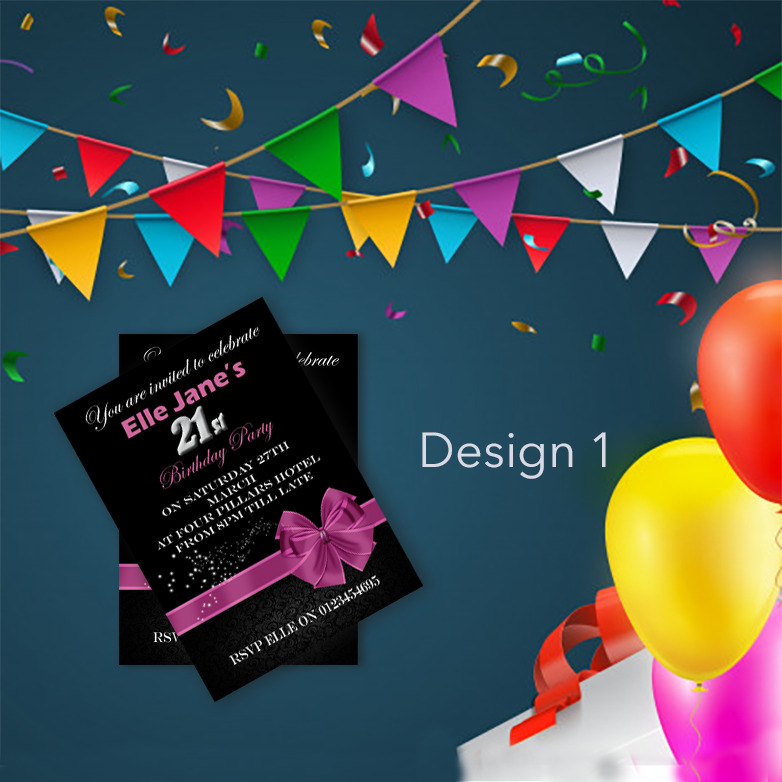 Details About Personalised Birthday Invitations