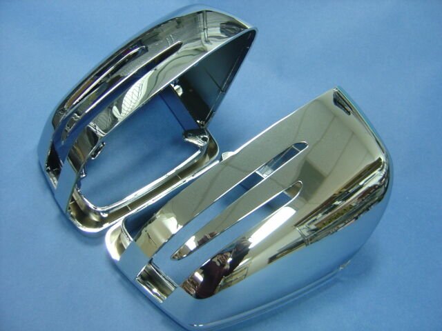 Door mirror chrome cover set for 2012 2015 mercedes w166 for Mercedes benz gl450 chrome accessories