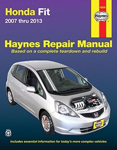 Haynes repair manual 42030 for honda fit 2007 thru 2013 ebay for Honda car repair