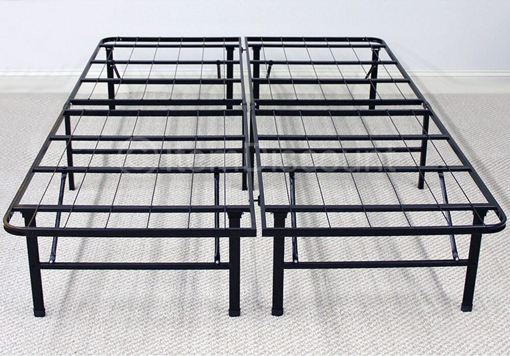 Steel Bed Frames Queen Metal Bed Frames Queen Size Extra: Metal Platform Bed Frame Mattress Foundation Base Folding