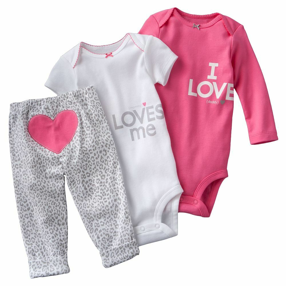 Nwt Carters Baby Girls Piece Bodysuit Set Clothes