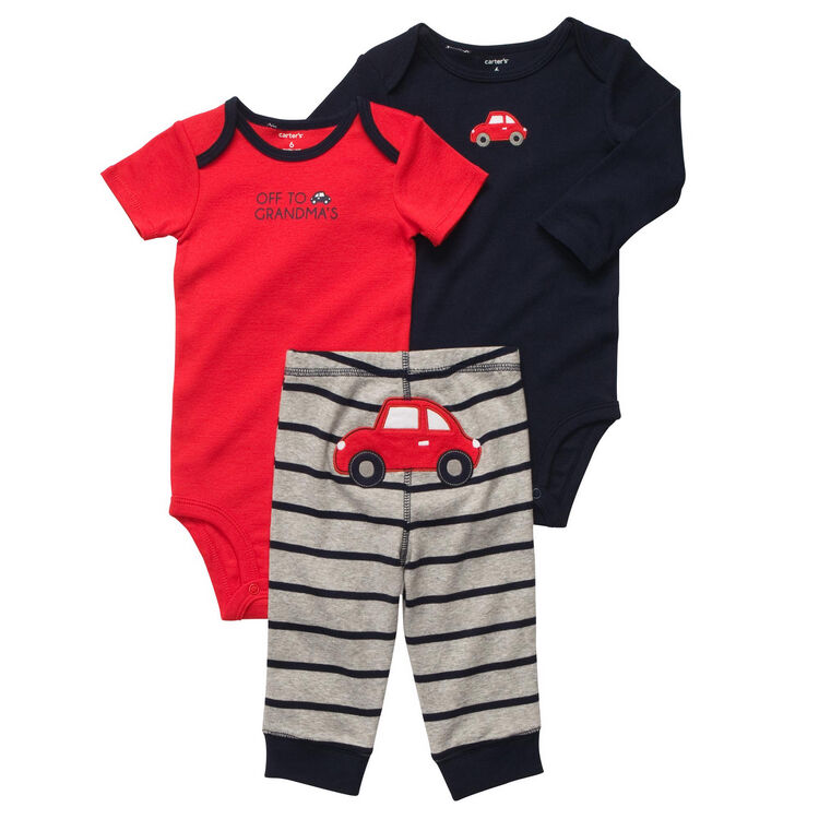 New NWT Carters Baby Boys 3 Piece Bodysuit Set Clothes 6