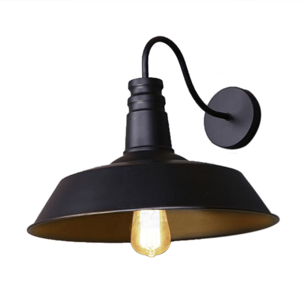 Wall Pendant Light: Retro Edison Industrial Style Pendant Light Metal Wall