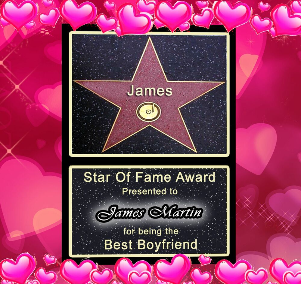 Valentines hollywood star perfect gift for him or her for Great valentines ideas for her