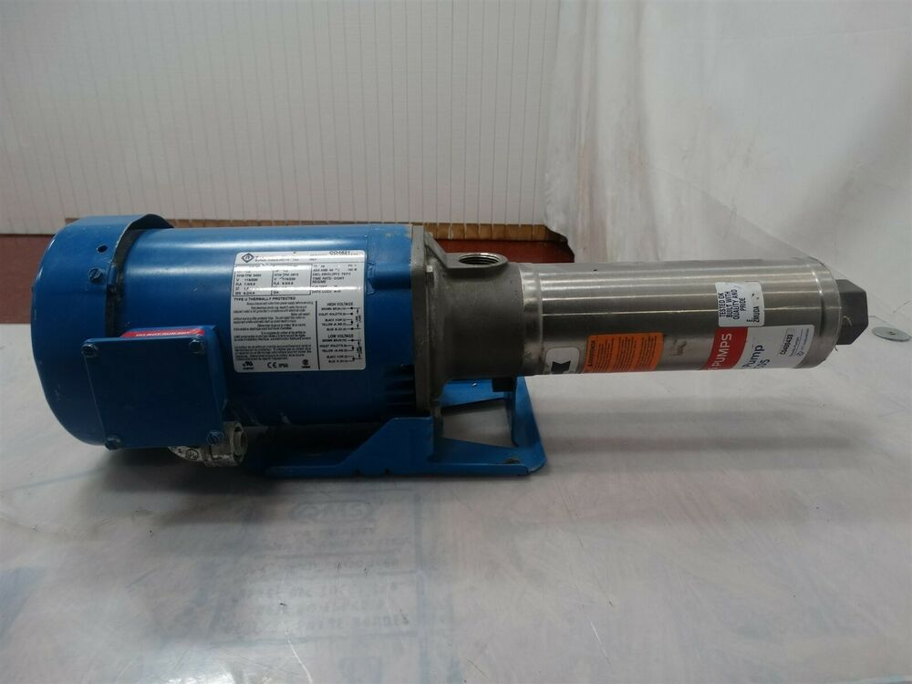 Goulds Pump 7gbc05 W Franklin Electric Motor 1 2hp 50 60hz