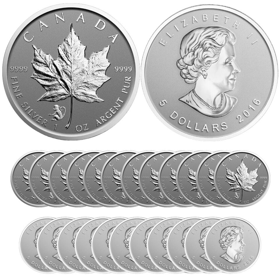 2016 Monkey Privy Silver Canadian Maple Leaf Reverse Proof