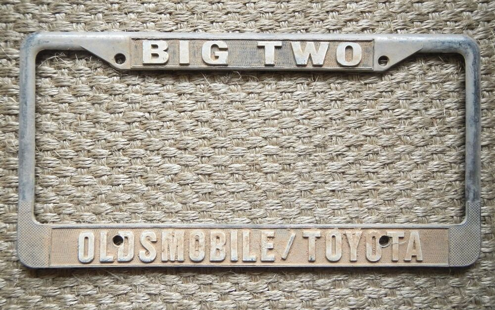 Big Two Oldsmobile Toyota Dealership License Plate Frame