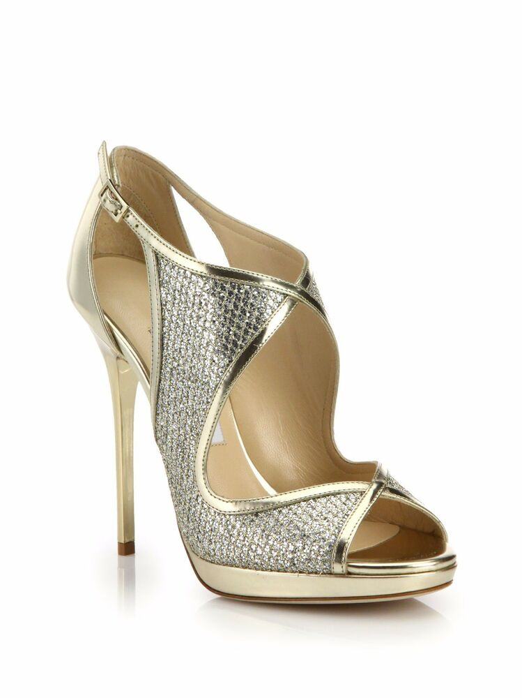 Gold Glitter High Top Shoes