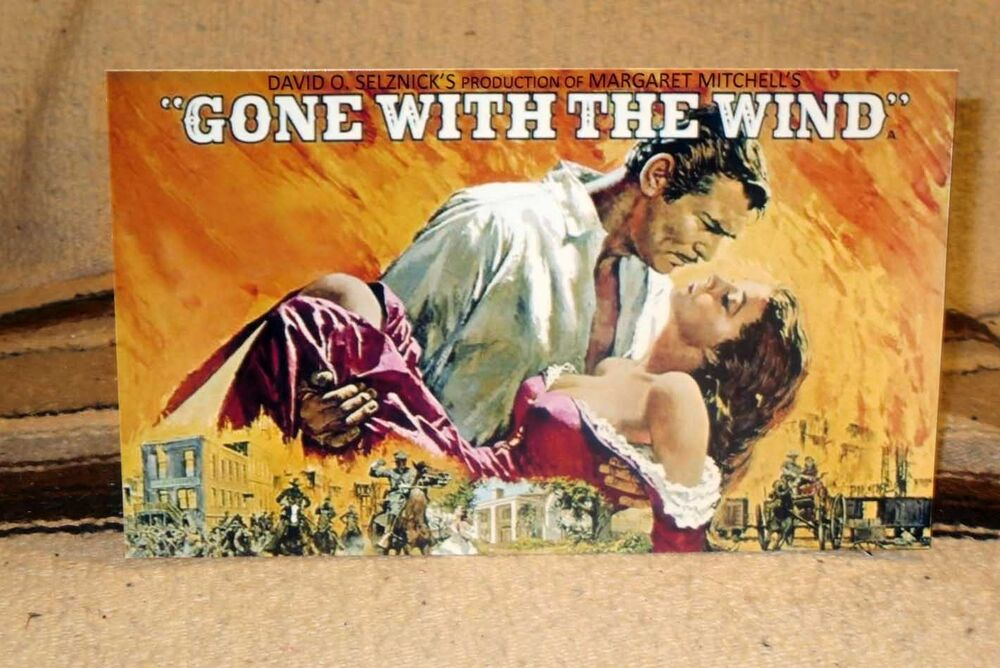 Gone With The Wind Movie Poster Tabletop Display Standee
