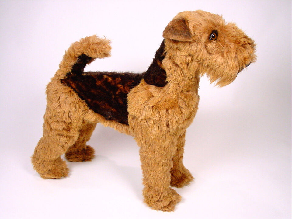 life size welsh terrier by piutre hand made in italy plush stuffed animal nwt ebay. Black Bedroom Furniture Sets. Home Design Ideas