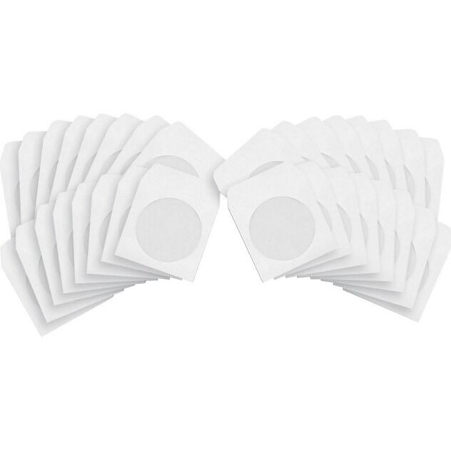 100 premium 80g cd dvd white paper sleeves envelopes with for 100 paper cd sleeves with window flap