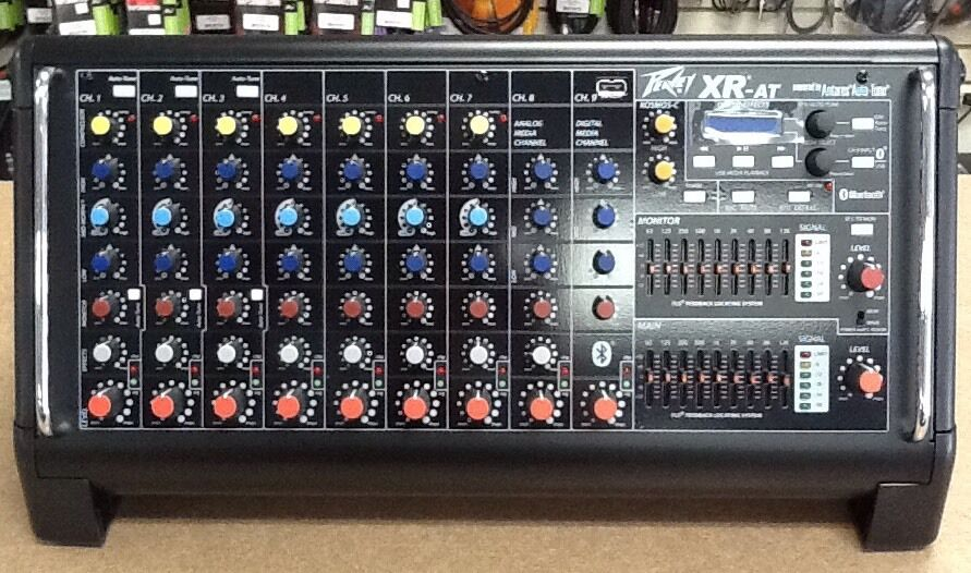 brand new peavey xr at 9 channel powered mixer with auto tune in stock now ebay. Black Bedroom Furniture Sets. Home Design Ideas