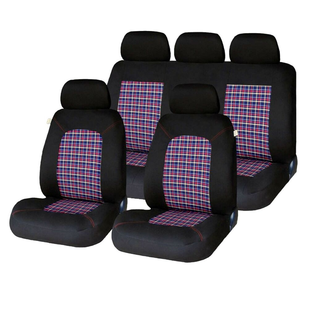 Ebay Car Seat Covers >> 9 PCE Lambeth Tartan GTI Checked Design Car Seat Covers VW POLO MK1 2 3 5 6 7 | eBay