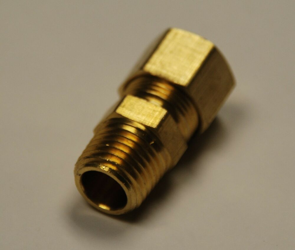 Brass compression male connector pipe size tube