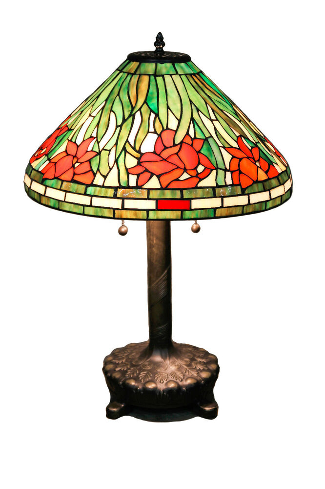 Tiffany Style Stained Glass Daffodil Table Lamp