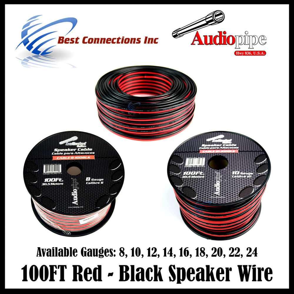 3 Conductor 8 Gauge Marine Cable : Ft conductor speaker wire red black gauge