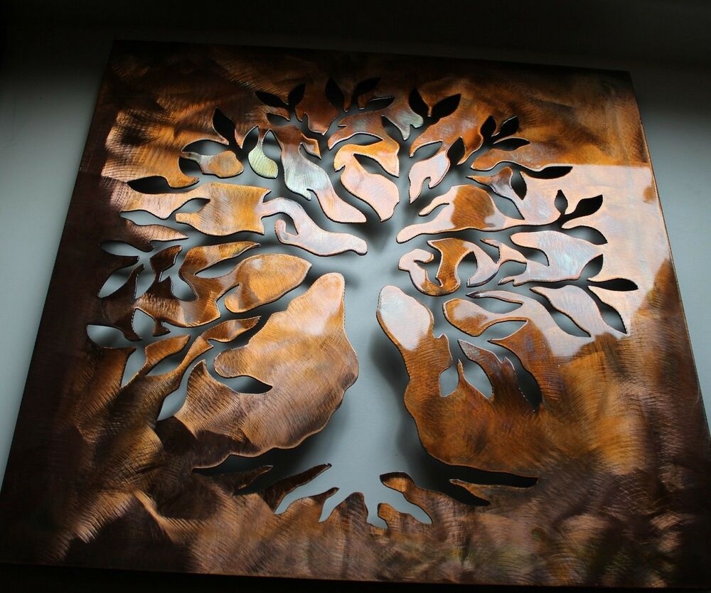 boxed olive tree 3d tree of live metal wall art decor 24 ebay. Black Bedroom Furniture Sets. Home Design Ideas