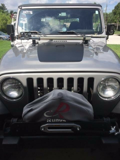 Blackout Hood Decal For Jeep Military Wrangler Graphics Tj