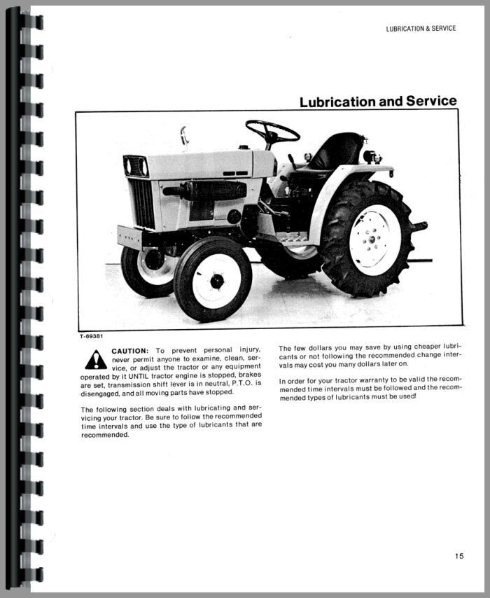 Allis Chalmers 314 Tractor Manual