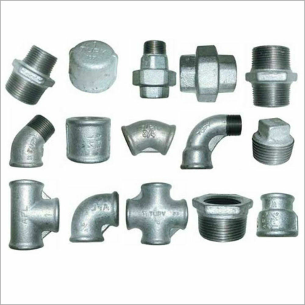 Galvanised malleable iron pipe fittings connectors joints