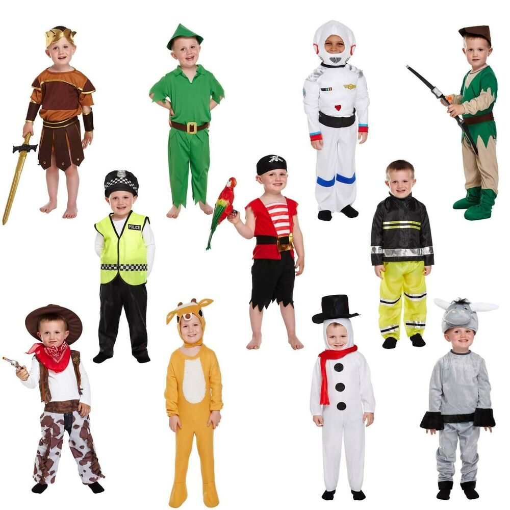 Toddler Boy Fancy Dress Up Costume Child Party Outfit World Book Day Kids Age 3+ | EBay