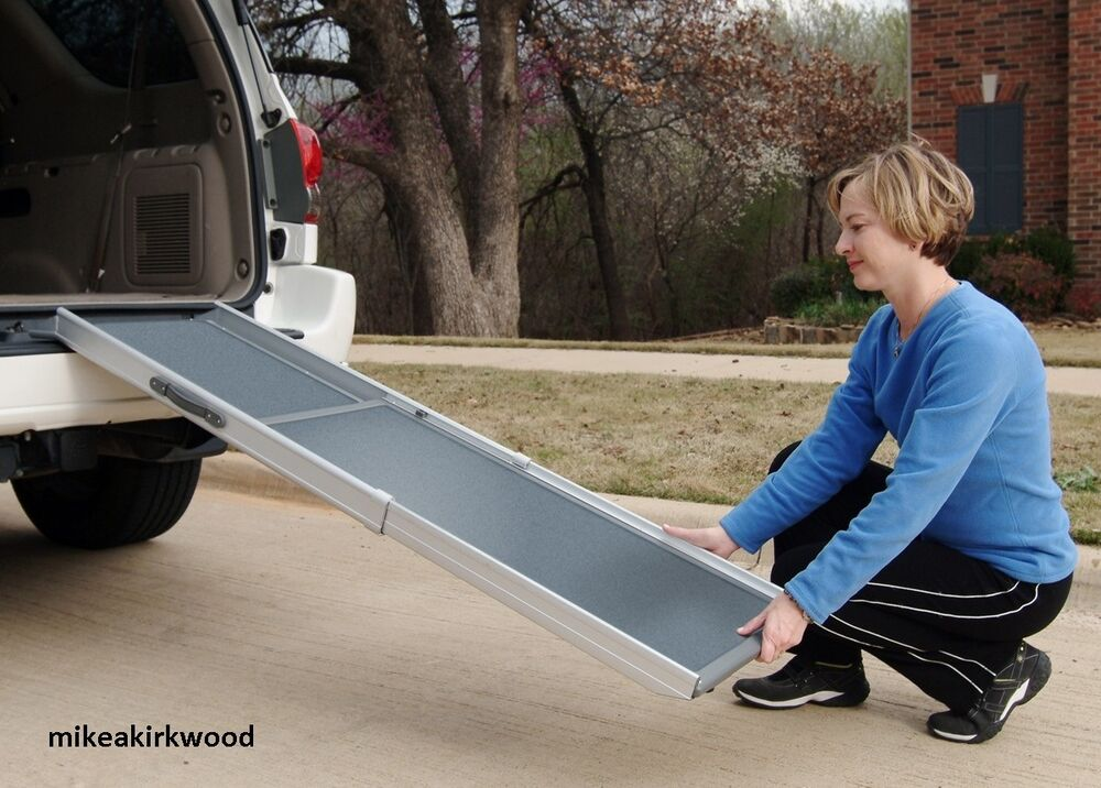 Dog Ramp For Car >> Deluxe Telescoping Pet Ramp Dog Large for Car Truck SUV ...