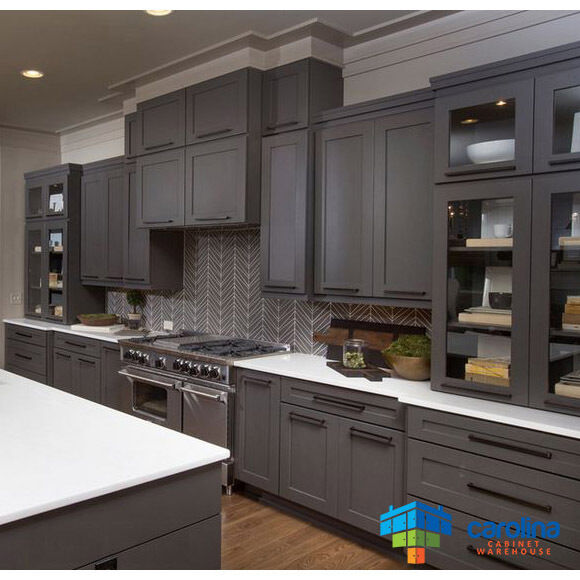 Grey kitchen cabinets wood cabinets 10 x 10 rta for Grey wood kitchen cabinets