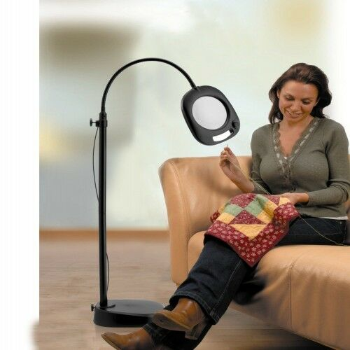 Craft Magnifier Lamp Natural Light Table Floor Hobby