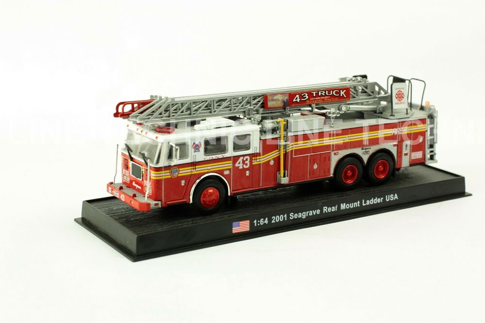 Semi Truck That S Also A Toy Car Holder : Giant fire truck seagrave rear mount ladder usa