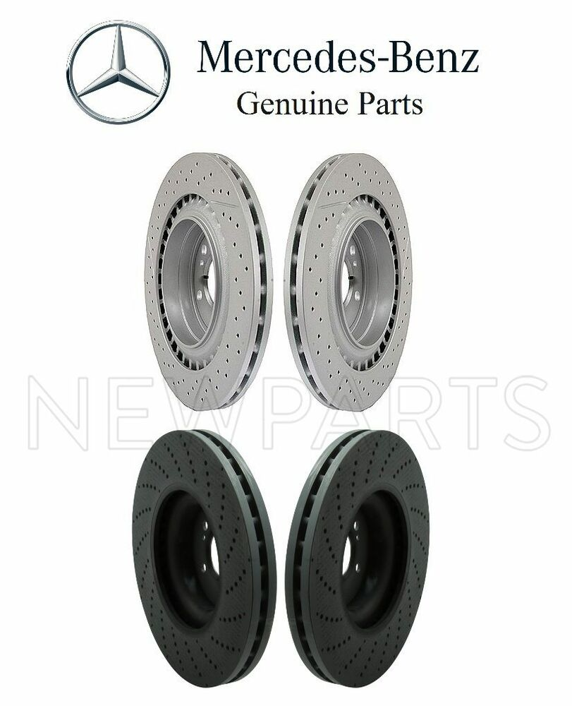 New mercedes w204 c63 amg 08 12 set of 2 front and rear for Mercedes benz c300 brake rotors