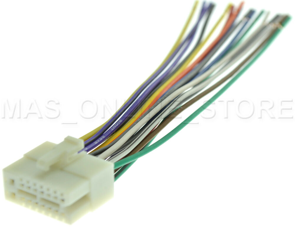 wire harness for clarion drx 6675z drx6675z  pay today ships today  ebay Car Audio Wiring Harness Connectors jvc-car-stereo-radio-wire-wiring-harness-plug-16-pin