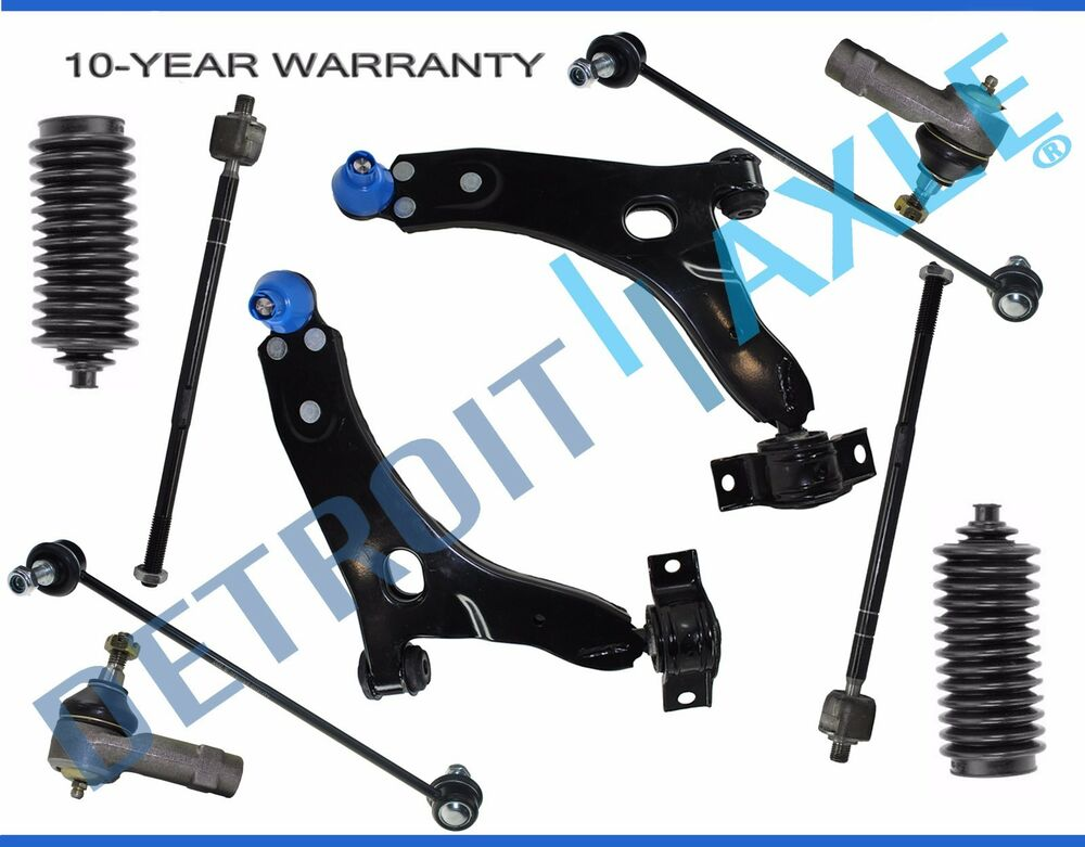 new 10pc front lower control arm set suspension kit for. Black Bedroom Furniture Sets. Home Design Ideas