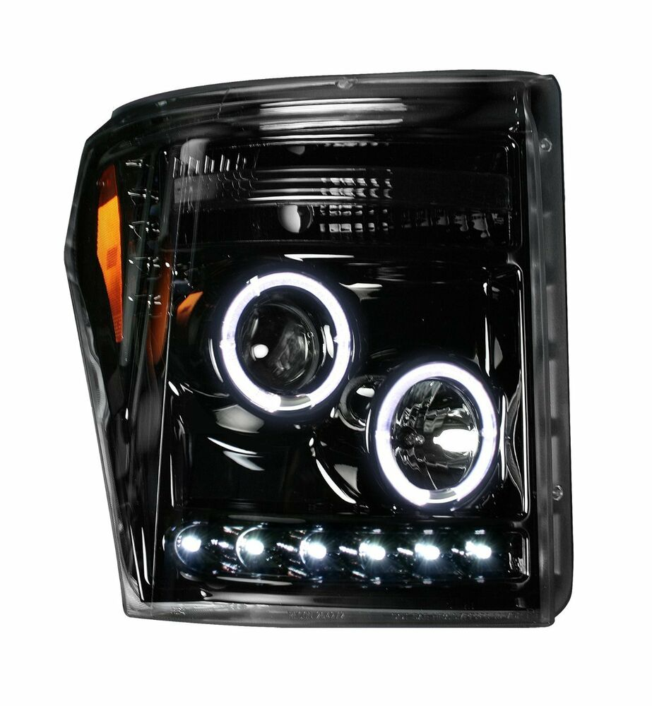 Ford F 250 Headlights : Ford f super duty smoked projector led