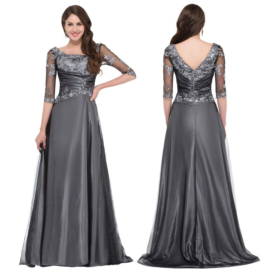 Wedding Formal Gowns: Formal Long LACE Women Evening Party Cocktail Maxi Wedding