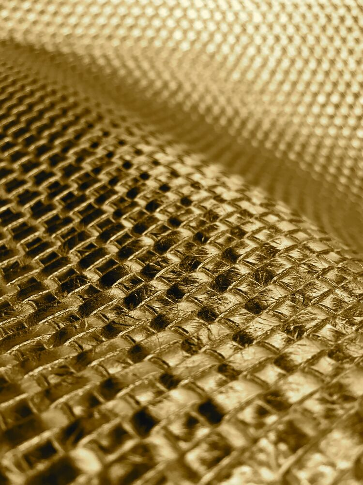 Gold Basket Weave Heavy Duty Car Vinyl Upholstery Vinyl