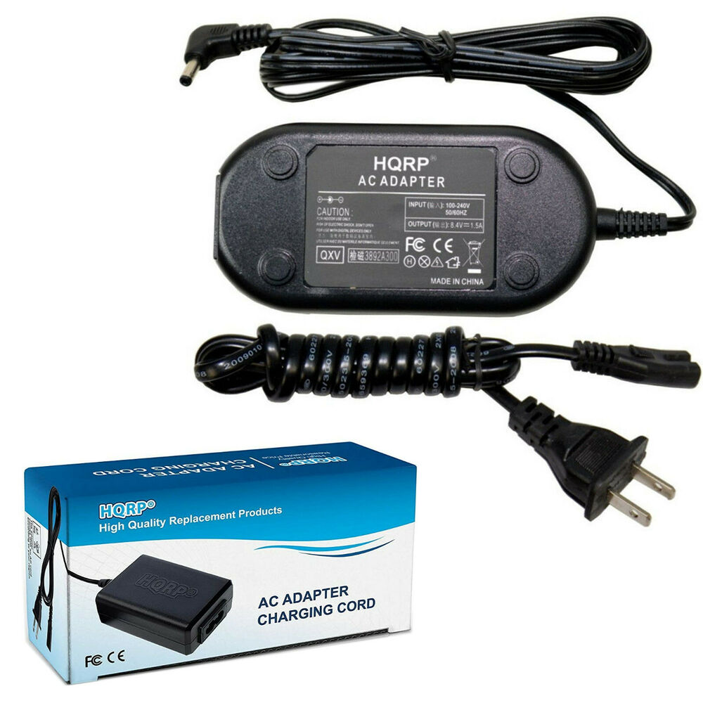 Ac Power Adapter Charger For Canon Vixia Hf Fv Hg Hv