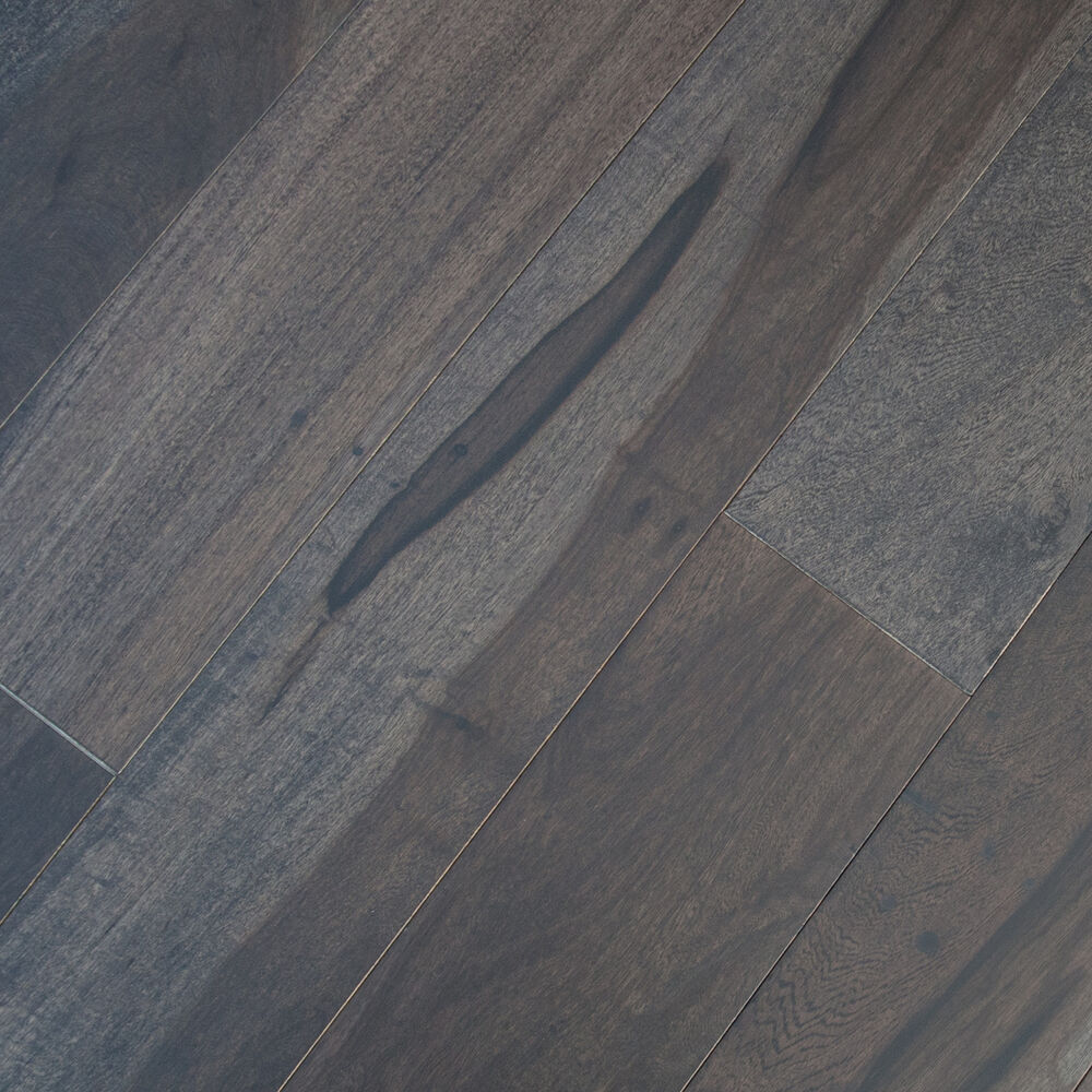 4 solid macchiato pecan graphite wood floor hardwood for Solid hardwood flooring