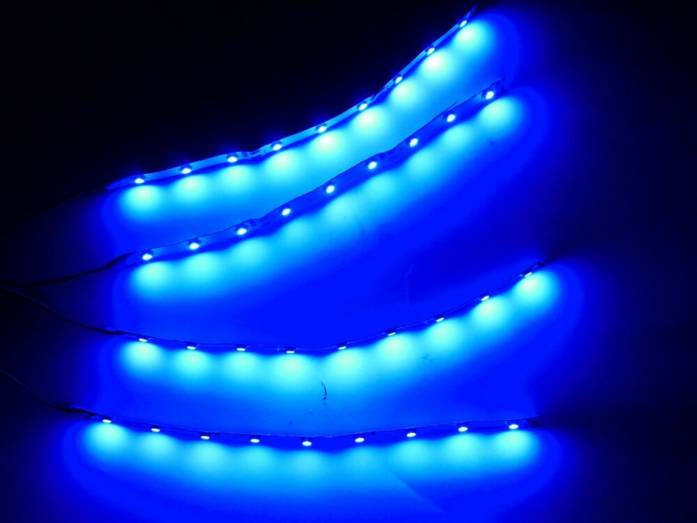 6 rc blue underbody underglow led strip lights superbright fpv quadcopter 4pc ebay - Underglow neon ...