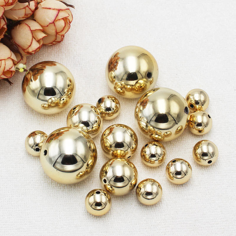 14-30mm Gold Plastic Pearl Round Loose Beads,DIY Jewelry ...