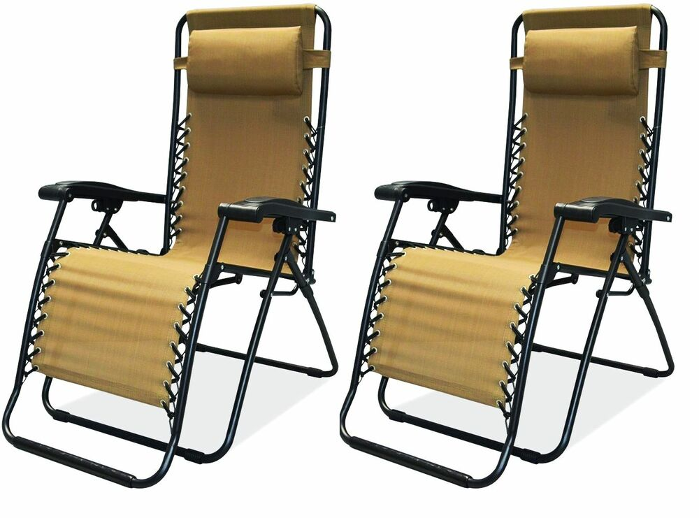 New Set Of 2 Ultimate Tailgate Zero Gravity Chair Recliner
