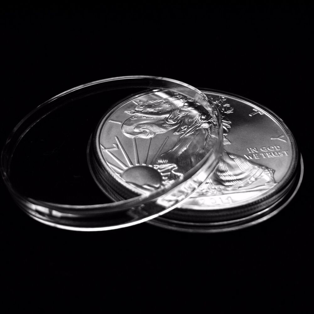 25 Airtite Holders Coin Capsules For American Silver Eagle