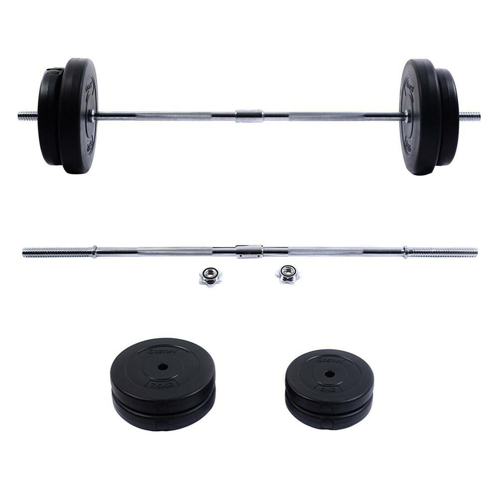 Exercise Barbell Dumbbell: New 66 LB Barbell Dumbbell Weight Set Gym Lifting Exercise