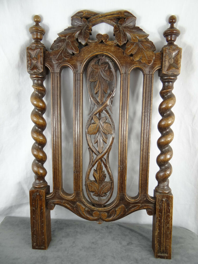 Antique Wood Paneling: Antique French Carved Wood Gothic Panel 19th