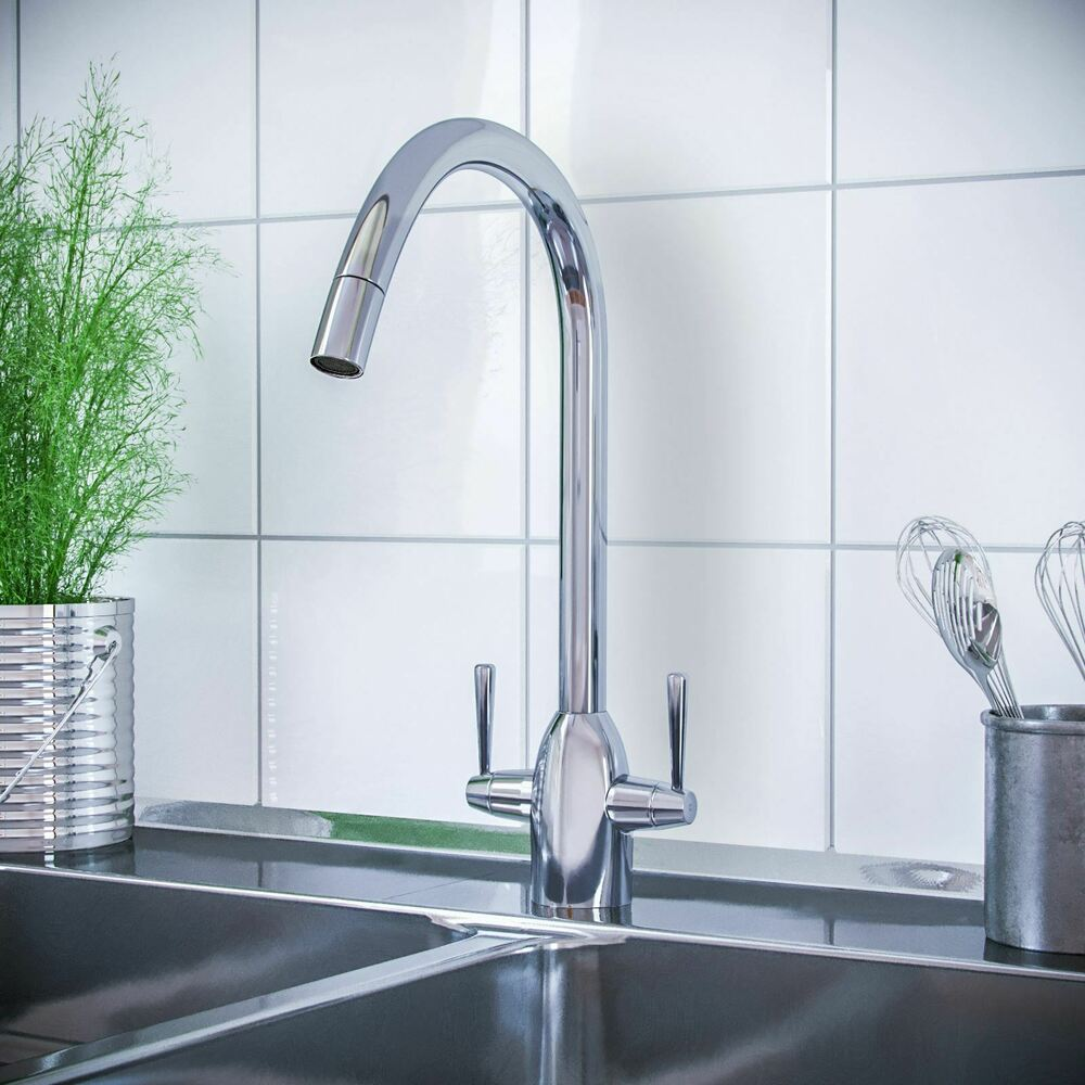 kitchen sink taps ebay witton modern chrome swivel pull out spray kitchen basin 5987