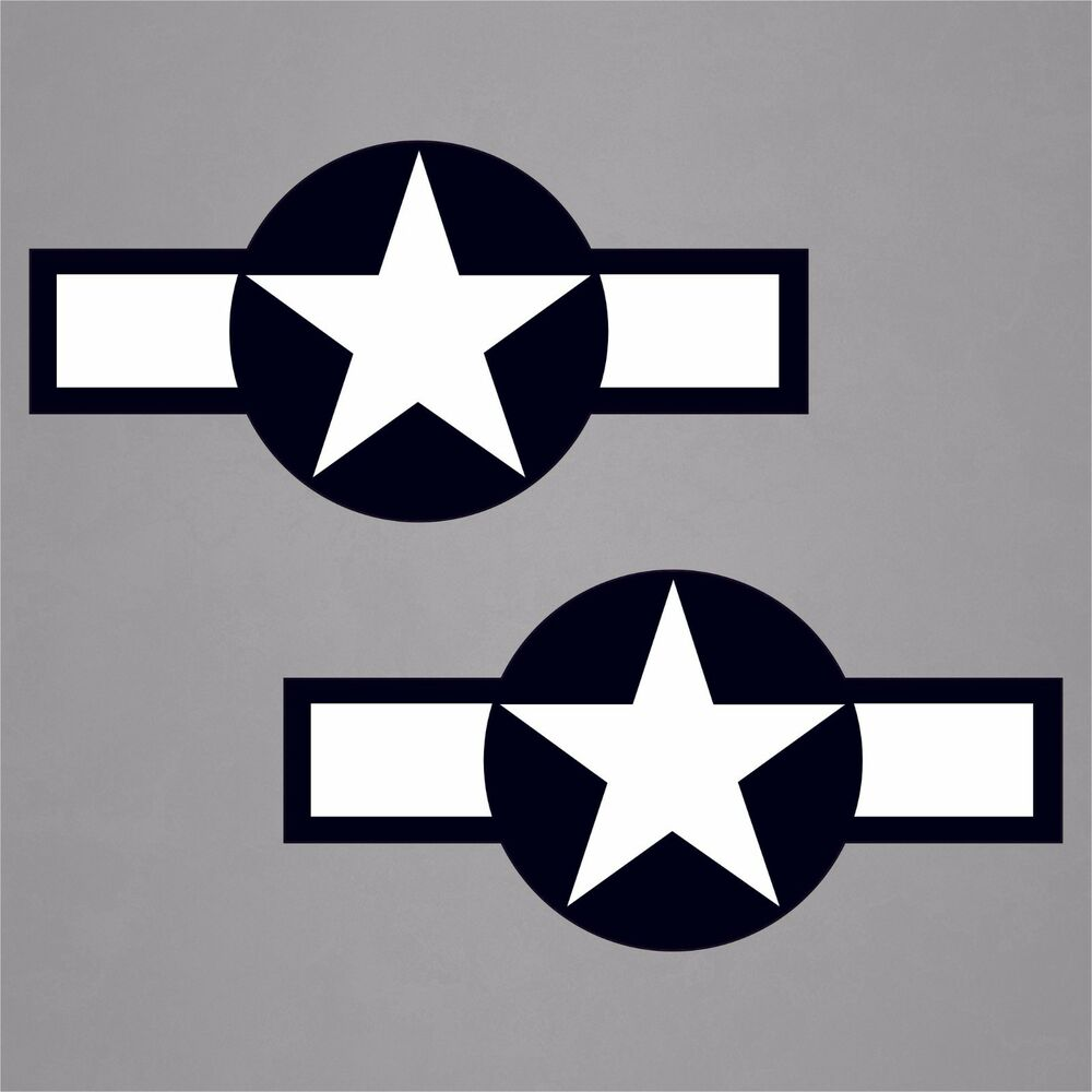 """1.5""""x3"""" USAF Aircraft Insignia WWII Military Cell"""