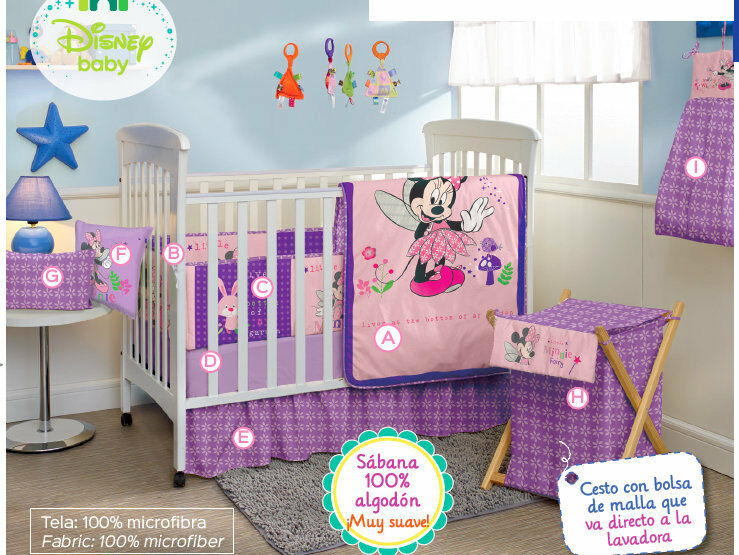 Minnie Mouse Crib Bedding Set Sheets X5 Comforter Bumper