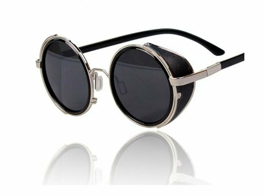 Buy vintage sunglasses with leather blinders