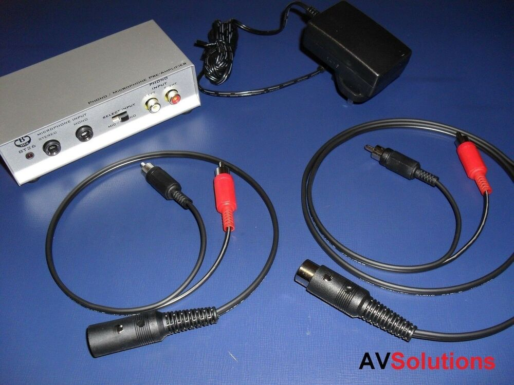 beogram riaa pre amp cables for bang olufsen b o beosound mk2 ebay. Black Bedroom Furniture Sets. Home Design Ideas