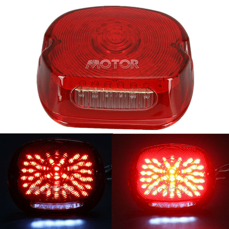 Red LED Tail Light For Harley Davidson Softail Wide Glide
